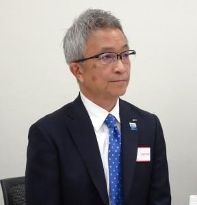 飛戸社長は、製造現場の可視化など今後の事業展開について話した。